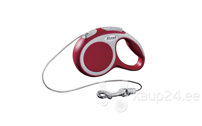 Собачий поводок-рулетка FLEXI Vario XS 3m, красный цена и информация | Jalutusrihmad, kaelarihmad ja traksid koertele | kaup24.ee
