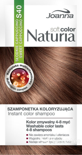 Tooniv šampoon Joanna Naturia Soft Color 35 g, S40 Sweet Cappuccino