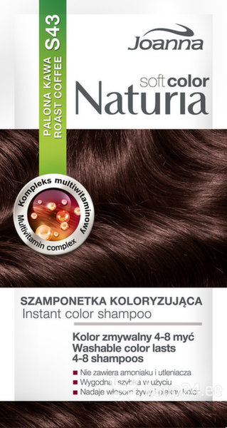 Tooniv šampoon Joanna Naturia Soft Color 35 g, S43 Roast Coffe