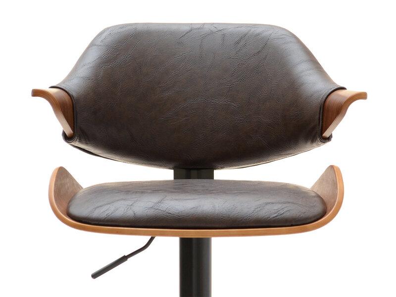Барный стул Hoker 46, черный/коричневый дешевле