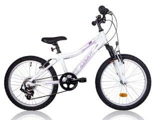 """Tüdrukute jalgratas Azimut Kid Alu Girl 20"""" 2016, valge"""