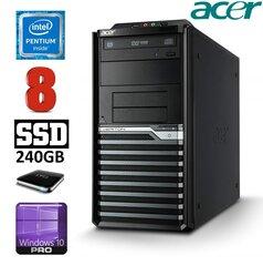 Lauaarvuti Acer Veriton M4620G MT G645 8GB 240GB+1TB DVD WIN10Pro