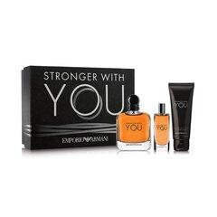 Komplekt Giorgio ArmaniEmporio Stronger With You meestele: EDT 100 ml + dušigeel 75 ml + EDT 15 ml