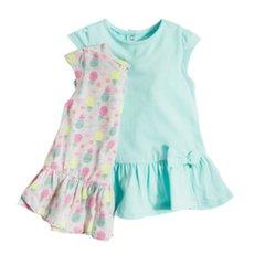 Tüdrukute lühikeste varrukatega kleit, 2 tk., Cool Club, BCG1806326-00