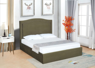 Voodi koos voodipesukastiga Queen, 160x200 cm, tumeroheline