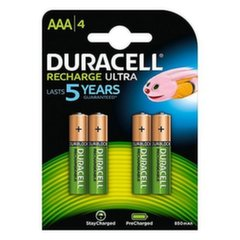 Duracell Rechargeable Accu Stay Charged 800mAh HR03 AAA (LR03), 4 tk hind ja info | Patareid | kaup24.ee