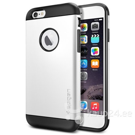 Kaitseümbris Spigen Slim Armour / Apple iPhone 6, Valge цена и информация | Mobiili ümbrised, kaaned | kaup24.ee