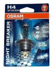 OSRAM лампа для автомобилей H4 12V 60/55W Night Breaker Unlimited цена и информация | OSRAM лампа для автомобилей H4 12V 60/55W Night Breaker Unlimited | kaup24.ee