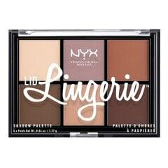 Lauvärvipalett NYX Professional Makeup Lingerie 6 x 1.37 g