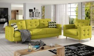 Pehme mööbli komplekt Asgard 3+1, kollane