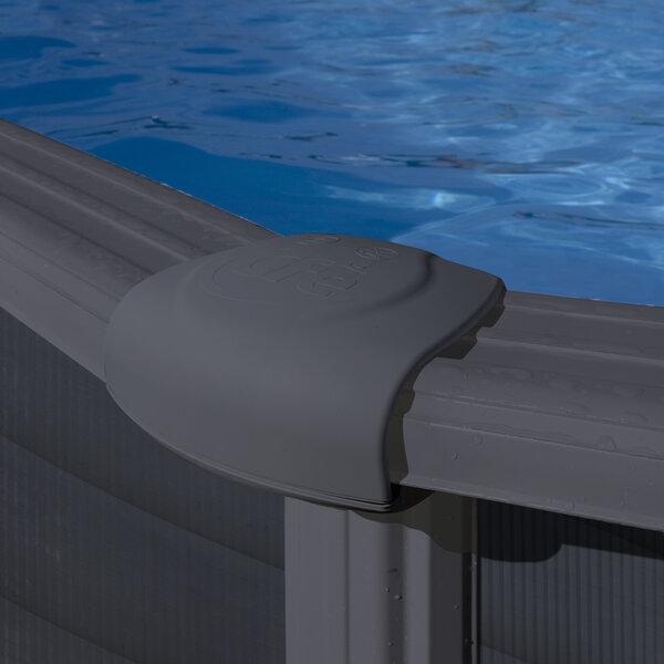 Ovaalne karkassiga bassein Gre Granada koos liivafiltriga, 610x375x132 cm
