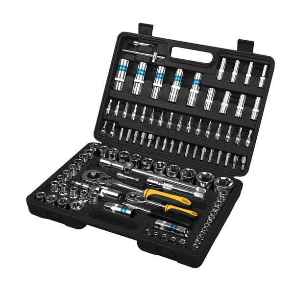Tööriistakomplekt Fieldmann FDG 5001-108R, 108 osaline цена и информация | Käsitööriistad | kaup24.ee