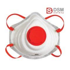 Respiraatori klapiga DSM FFP3 RPK3FN/10 tk., Pakendis 10 tk