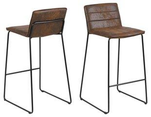 Комплект из 2-х барных стульев Kitos, коричневый/черный