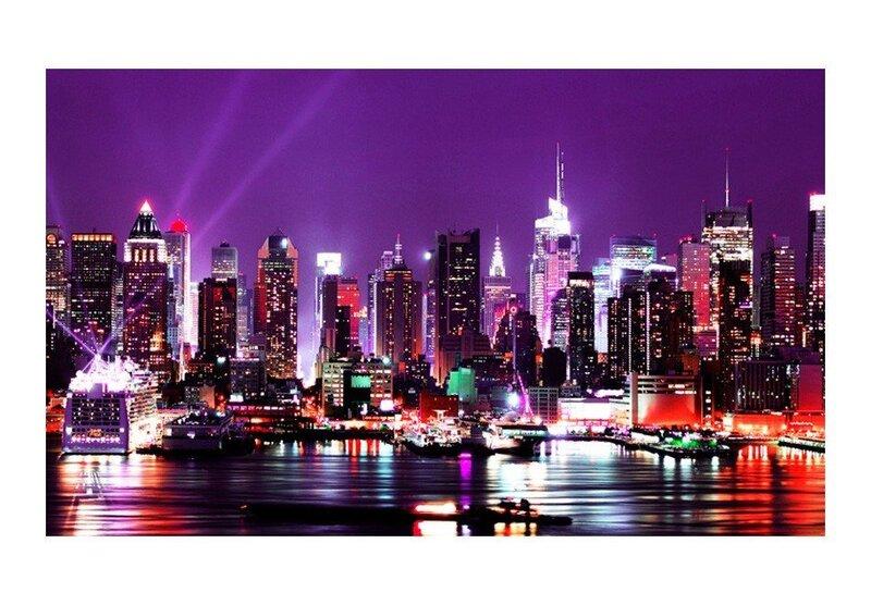 Fototapeet - Vikerkaar linna valguses, New York tagasiside