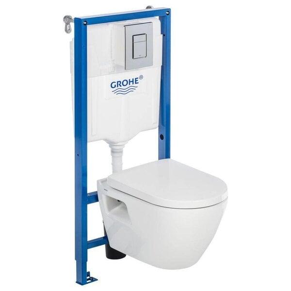 WC комплект Kolo Slim: WC монтажная рама + унитаз + кнопка + крышка цена и информация | WС-potid | kaup24.ee