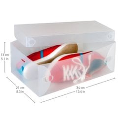 Tatkraft Glasgow набор ящиков для хранения обуви, 10 шт. цена и информация | Корзины и ящики для хранения  | kaup24.ee
