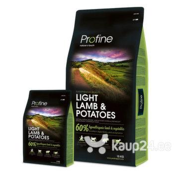 Kuivtoit ülekaalulistele koertele Profine Dog lambaliha ja kartuliga Light Lamb & Potatoes, 15 kg