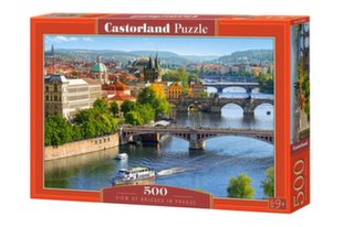 Pusle Castorland View of Bridges in Prague, 500 detaili hind ja info | Pusled | kaup24.ee