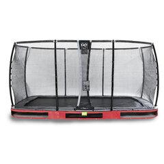Batuut Exit Elegant Premium turvavõrguga Deluxe, 244x427 cm, punane