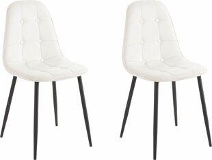 2-tooli komplekt Tito, valge/must hind ja info | Söögitoolid, köögitoolid | kaup24.ee