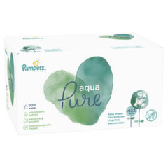 Salvrätikud PAMPERS Aqua Pure, ecommerce pack 432 tk
