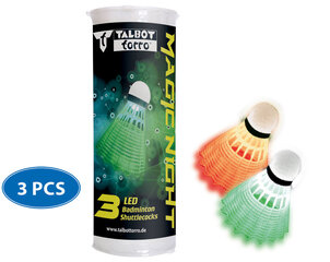 Sulgpallid Talbot Torro Magic Night LED, 3 tk