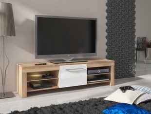 TV laud Flex, tamm/valge