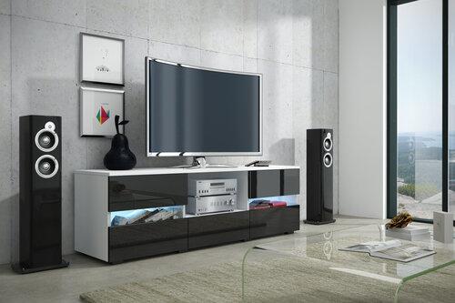 TV laud Global II, valge/must