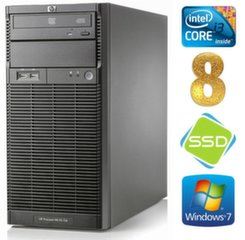 Lauaarvuti HP ProLiant ML110 G6 i3-550 8GB 120SSD DVD WIN7Pro