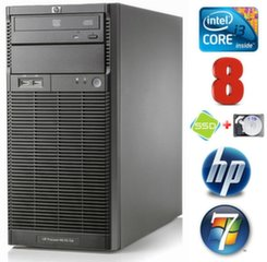 Lauaarvuti HP ProLiant ML110 G6 i3-550 8GB 120SSD+1TB DVD WIN7Pro