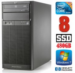 HP ProLiant ML110 G6 i3-550 8GB 480SSD DVD WIN7Pro