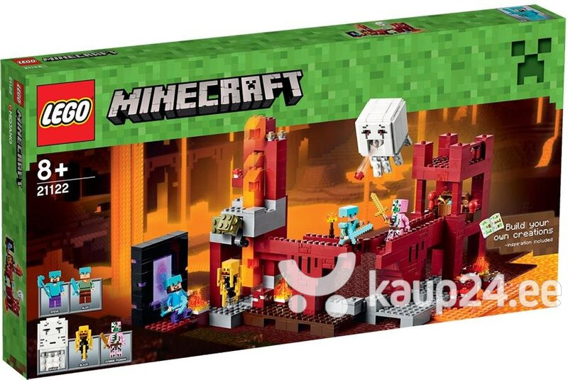 Klotsid Lego Minecraft The Nether Fortress 21122 цена и информация | Kokkupandavad mänguasjad | kaup24.ee