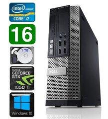 DELL 7010 SFF i7-3770 16GB 1TB GTX1050Ti 4GB DVD Win10