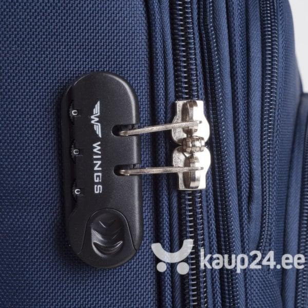 Keskmine kohver 4-rattaga Wings Buzzard, sinine