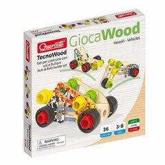 Konstruktor Quercetti Tecno Wood Basic Sõidukid, 0730