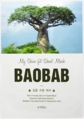 Niisutav näomask baobabo ekstraktiga A'pieu My Skin-Fit 25 g