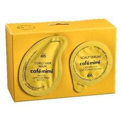 Juuksehoolduskomplekt Cafe Mimi: juuksemask lokkis juustele 20 ml + juukseseerum 5 ml