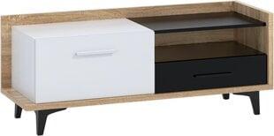 TV-laud Meblocross Box 08 1D1S, tamme/valge värv