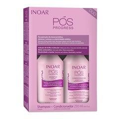 Komplekt protseduure koos keratiiniga INOAR Pos Progress Duo Kit: šampoon 250 ml + juuksepalsam 250 ml