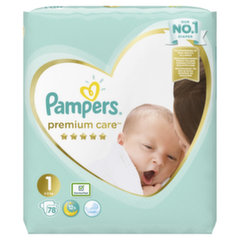 Mähkmed PAMPERS Premium Care, Value Pack 1 suurus, 78 tk