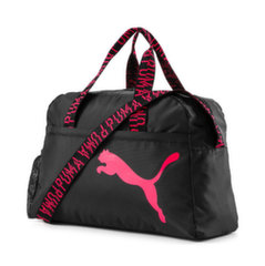 Спортивная сумка Puma AT ESS Black-Pink Alert-AO