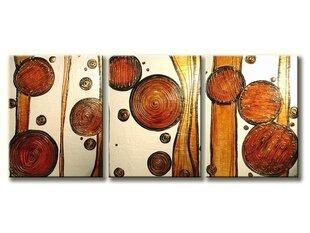Kolmeosaline maal, abstraktne II, XL suurus hind ja info | Seinapildid | kaup24.ee