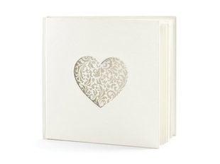 Külalisteraamat Heart, 60 lehte, kreemjas