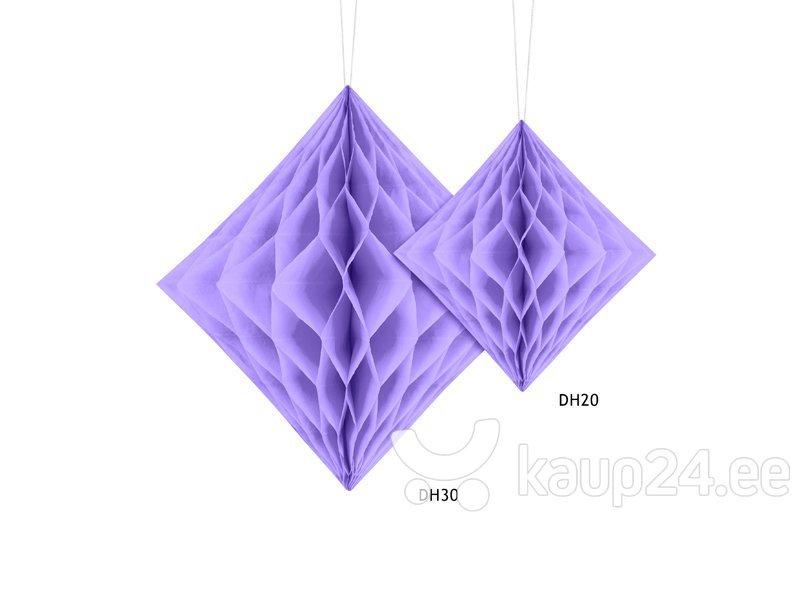 Rippuv dekoratsioon Diamond 20 cm, Sireli värv, (1 pakk/1 tk) Internetist