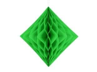 Riputatav kaunistus Diamond, roheline, 20 cm, 1 karp/50 pk (1 pk/1 tk)