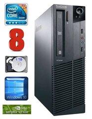Lauaarvuti Lenovo ThinkCentre M82 SFF i3-2120 8GB 1TB GT1030 2GB WIN10
