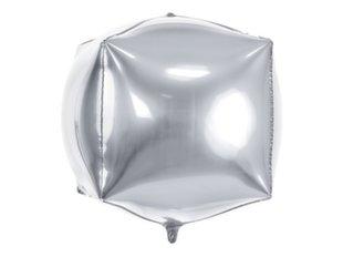 Fooliumist õhupallid Cubic 35x35x35 cm, hõbedane, 50 tk.