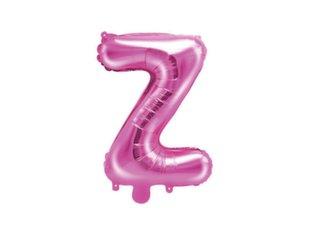 """Fooliumist õhupallid Täht """"Z"""" 35 cm, roosa"""