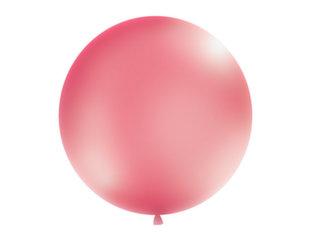 Suur õhupall 100 cm round Metallic, punane